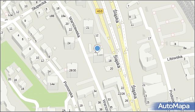 Gdynia, Warszawska, 25, mapa Gdyni