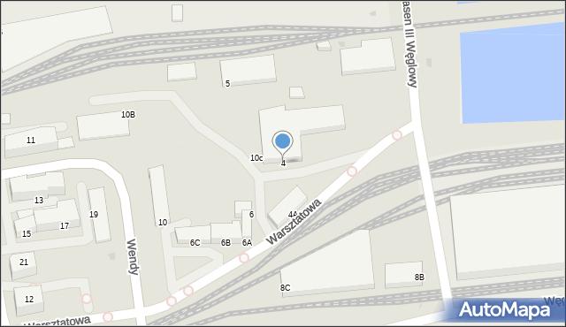 Gdynia, Warsztatowa, 4, mapa Gdyni