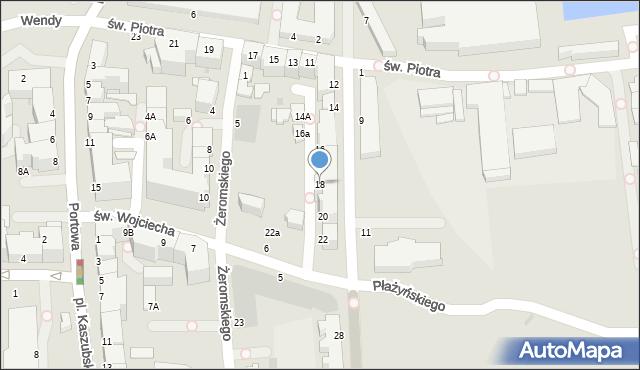 Gdynia, Waszyngtona Jerzego, 18, mapa Gdyni
