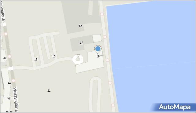 Gdynia, Waszyngtona Jerzego, 19, mapa Gdyni