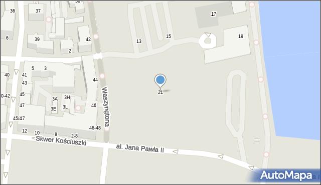 Gdynia, Waszyngtona Jerzego, 21, mapa Gdyni