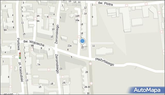 Gdynia, Waszyngtona Jerzego, 22, mapa Gdyni