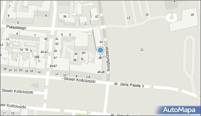 Gdynia, Waszyngtona Jerzego, 46, mapa Gdyni