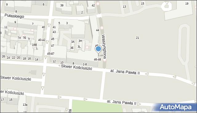 Gdynia, Waszyngtona Jerzego, 48, mapa Gdyni