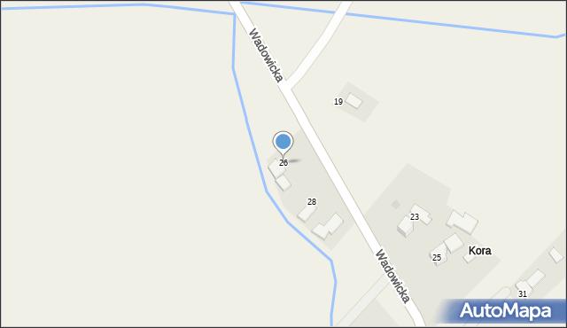 Gierałtowice, Wadowicka, 26, mapa Gierałtowice