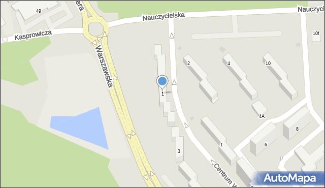 Grudziądz, Warszawska, 1, mapa Grudziądza