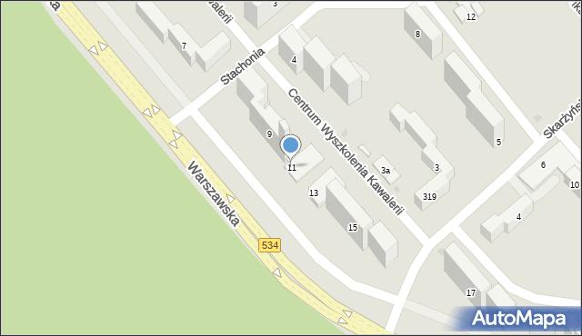 Grudziądz, Warszawska, 11, mapa Grudziądza