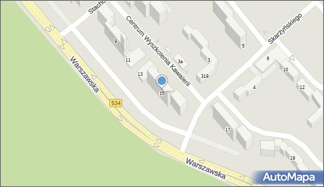 Grudziądz, Warszawska, 15, mapa Grudziądza