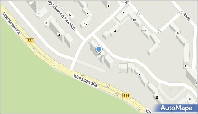 Grudziądz, Warszawska, 17, mapa Grudziądza