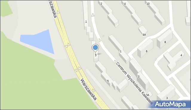 Grudziądz, Warszawska, 3, mapa Grudziądza