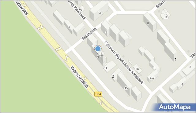 Grudziądz, Warszawska, 9, mapa Grudziądza