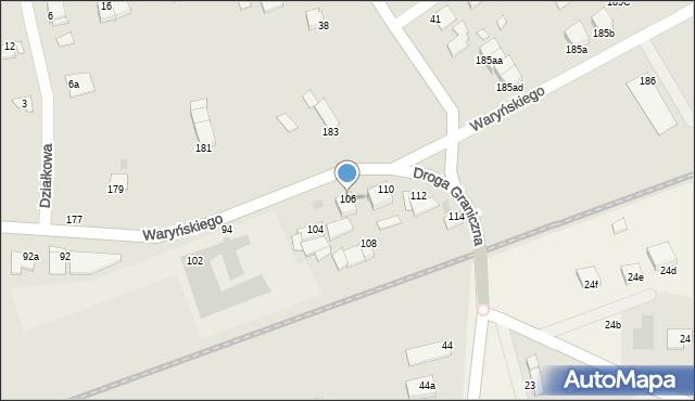 Grudziądz, Waryńskiego Ludwika, 106, mapa Grudziądza