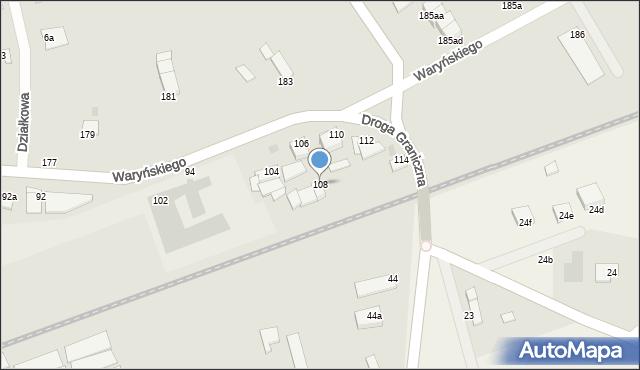 Grudziądz, Waryńskiego Ludwika, 108, mapa Grudziądza