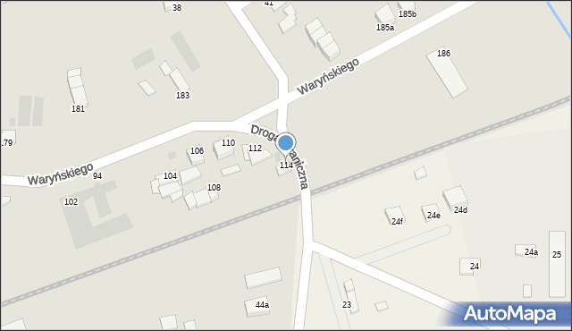 Grudziądz, Waryńskiego Ludwika, 114, mapa Grudziądza