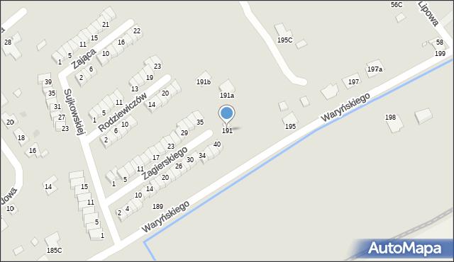Grudziądz, Waryńskiego Ludwika, 191, mapa Grudziądza