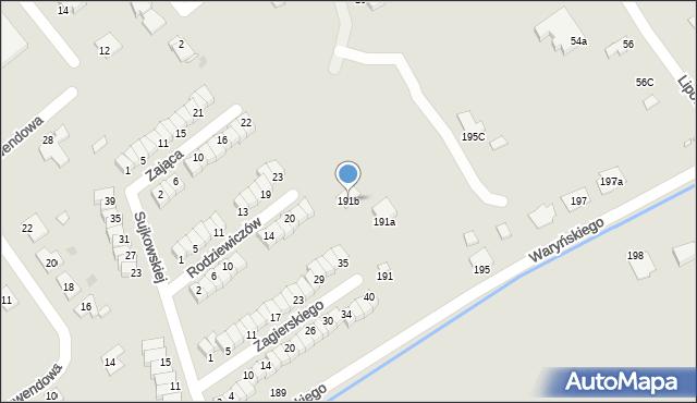 Grudziądz, Waryńskiego Ludwika, 191b, mapa Grudziądza