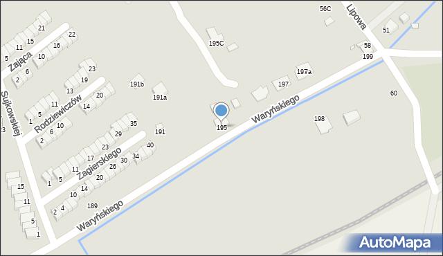 Grudziądz, Waryńskiego Ludwika, 195, mapa Grudziądza
