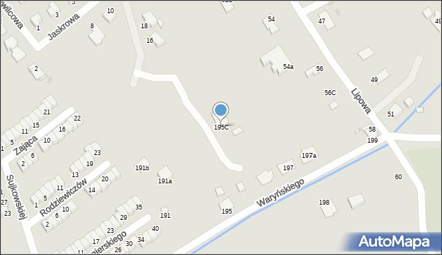 Grudziądz, Waryńskiego Ludwika, 195C, mapa Grudziądza