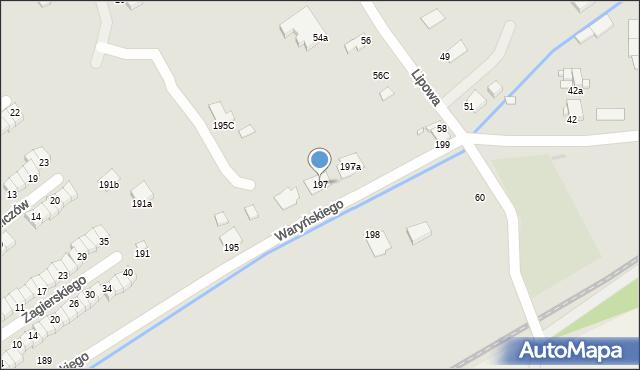 Grudziądz, Waryńskiego Ludwika, 197, mapa Grudziądza