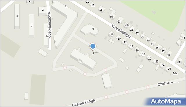 Grudziądz, Waryńskiego Ludwika, 4, mapa Grudziądza
