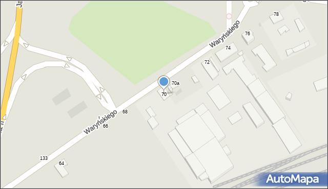 Grudziądz, Waryńskiego Ludwika, 70, mapa Grudziądza