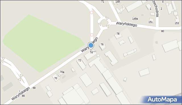Grudziądz, Waryńskiego Ludwika, 74, mapa Grudziądza
