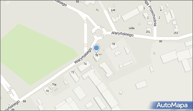 Grudziądz, Waryńskiego Ludwika, 76, mapa Grudziądza