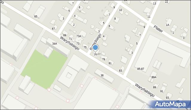 Grudziądz, Waryńskiego Ludwika, 77, mapa Grudziądza
