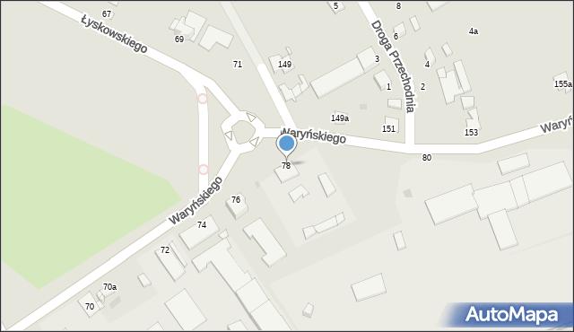 Grudziądz, Waryńskiego Ludwika, 78, mapa Grudziądza