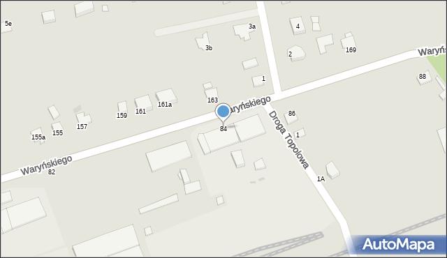 Grudziądz, Waryńskiego Ludwika, 84, mapa Grudziądza