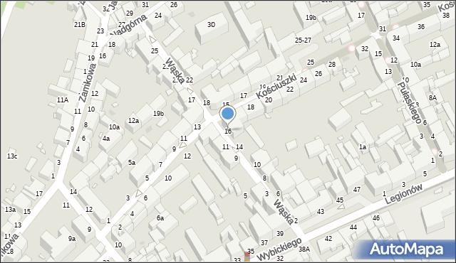 Grudziądz, Wąska, 16, mapa Grudziądza