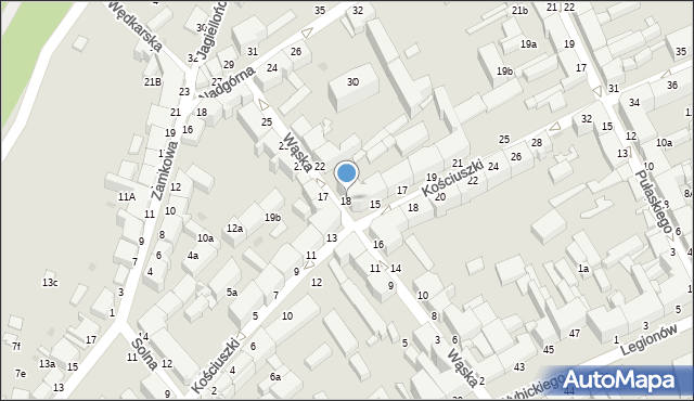 Grudziądz, Wąska, 18, mapa Grudziądza