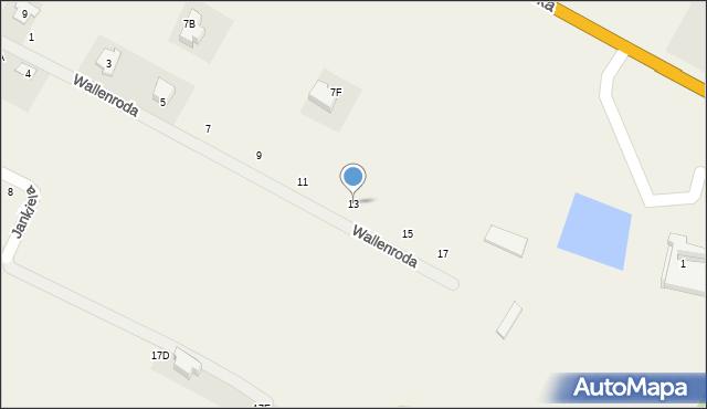 Janów, Wallenroda Konrada, 13, mapa Janów