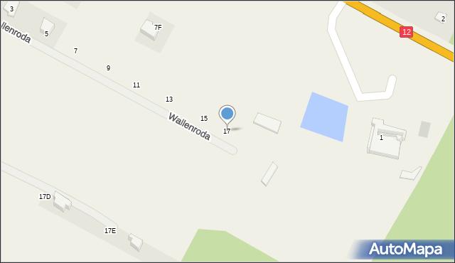 Janów, Wallenroda Konrada, 17, mapa Janów