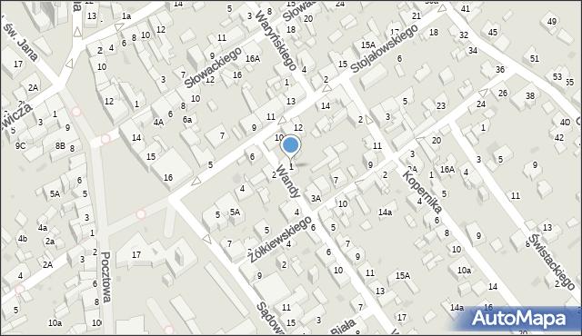 Jaworzno, Wandy, 1, mapa Jaworzno
