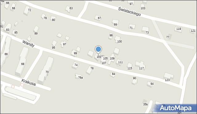 Jaworzno, Wandy, 101, mapa Jaworzno