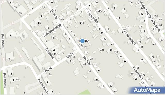 Jaworzno, Wandy, 15, mapa Jaworzno