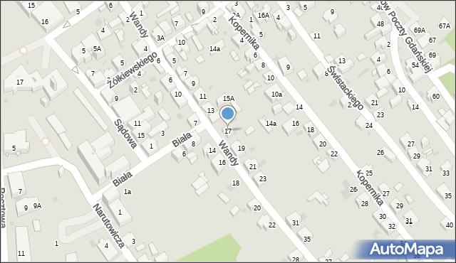 Jaworzno, Wandy, 17, mapa Jaworzno