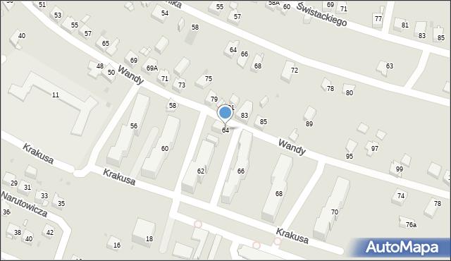 Jaworzno, Wandy, 64, mapa Jaworzno