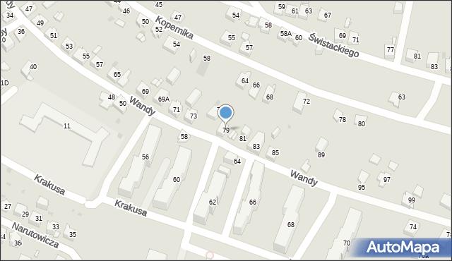 Jaworzno, Wandy, 79, mapa Jaworzno