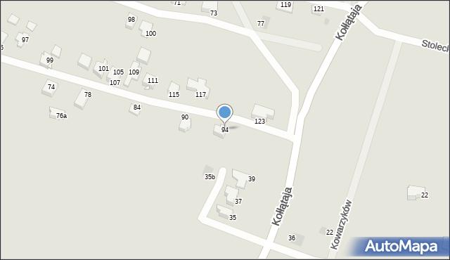 Jaworzno, Wandy, 94, mapa Jaworzno