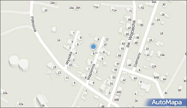 Jaworzno, Wapienna, 5, mapa Jaworzno