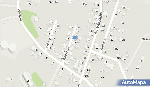 Jaworzno, Wapienna, 6, mapa Jaworzno