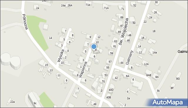 Jaworzno, Wapienna, 6a, mapa Jaworzno