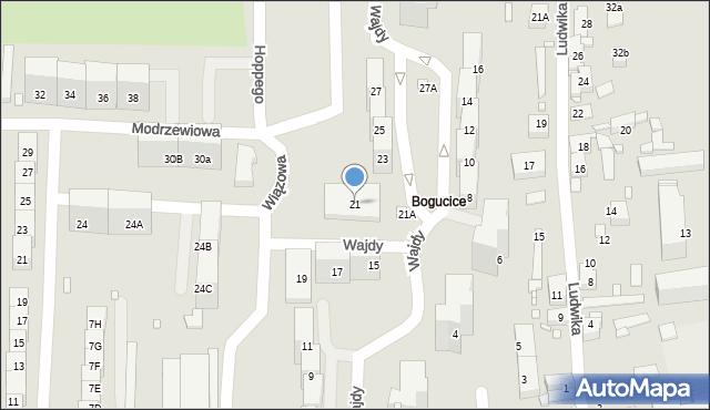 Katowice, Wajdy Wincentego, 21, mapa Katowic