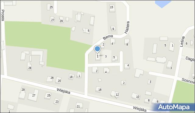Kębłowo, Waszyngtona, 1, mapa Kębłowo