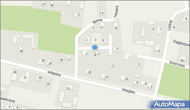 Kębłowo, Waszyngtona, 4, mapa Kębłowo