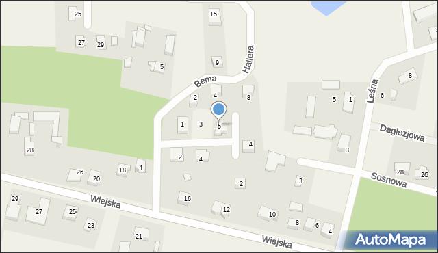 Kębłowo, Waszyngtona, 5, mapa Kębłowo