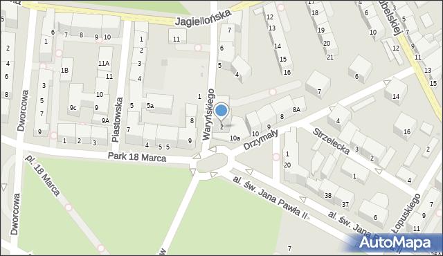 Kołobrzeg, Waryńskiego Ludwika, 2, mapa Kołobrzegu