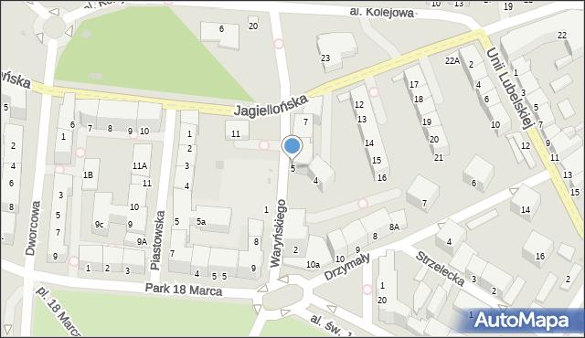 Kołobrzeg, Waryńskiego Ludwika, 5, mapa Kołobrzegu